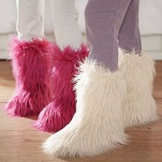 Furry Boots ~ not sure why I love these!