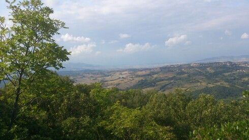 View of the countryside around Larderello, Tuscany