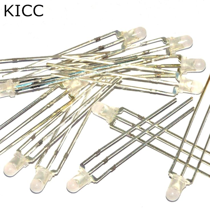 Double color Common anode Red Blue 3mm LED Light emitting diode Mist (100Pcs) #Affiliate