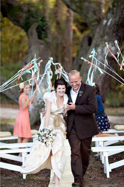 ribbon wand send off wedding