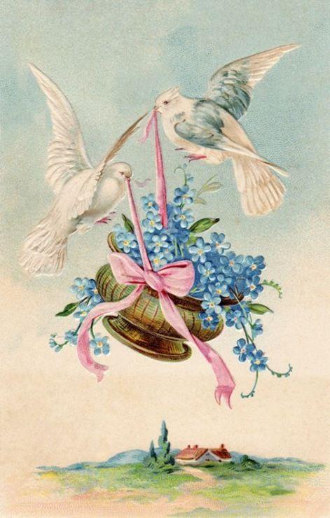 Старинная открытка свадебная