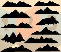While your design needs a hill pattern, this will be the perfect Mountain Vector Silhouette with a  download option. There are 11 vector silhouettes added with different shapes.   When you want to give non-urban scene to your illustrations, make use of this  mountain silhouette will give a nature friendly feel and creative look. ...