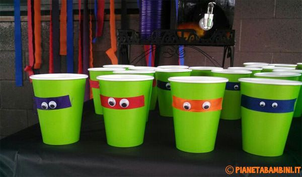 I bicchieri delle Tartarughe Ninja