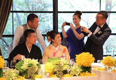 和装 テーブルコーディネート japanese styly wedding