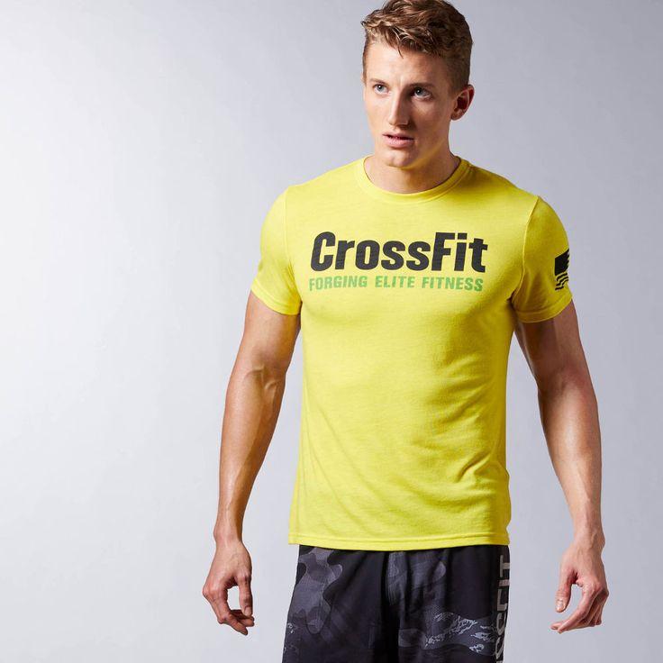 Reebok Men Training T-shirt CrossFit Forging Elite Fitness Tee AJ3472  Workout #Reebok #