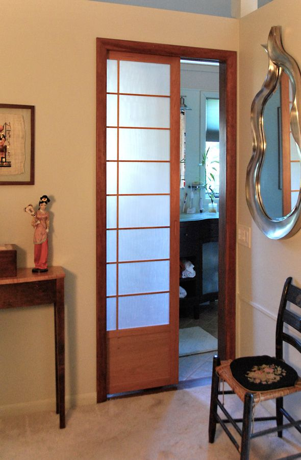 Cherry Tree Design Japanese Sliding Doors | Pocket Shoji ...