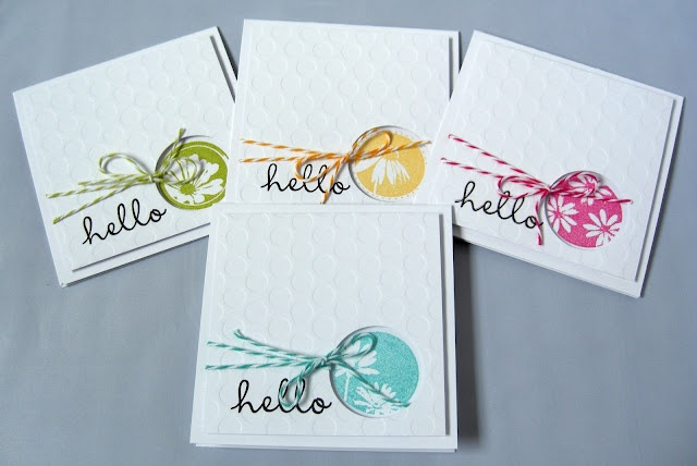 Stamping & Sharing...like the port hole in this lovely set of notecards...