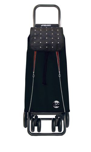 Rolser PAC097BLA/RED Pack Marina Logic Tour Shopping Trolley, 4-Wheel, Black/Red