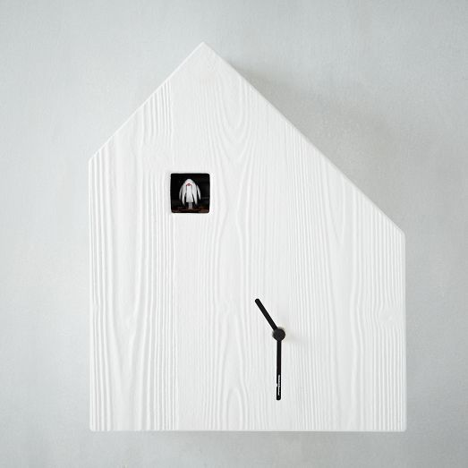 Diamantini + Domeniconi mix shapes and materials to bold effect on their unique line of cuckoo clocks.
