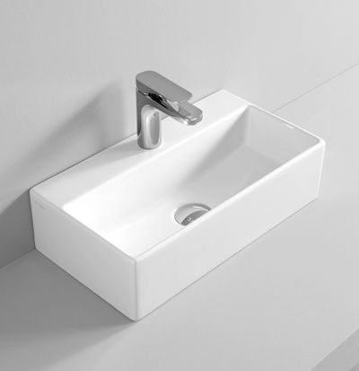 THE.ARTCERAM QUADRO wall hung countertop washbasin 50 X 27