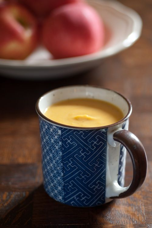 Yam, Apple And Carrot Soup With Ginger And Honey Recipe — Dishmaps