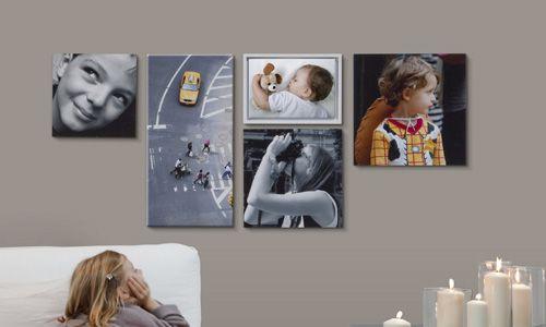Decorar paredes con fotos pegadas en mdf o impresas en - Cuadros con fotos familiares ...