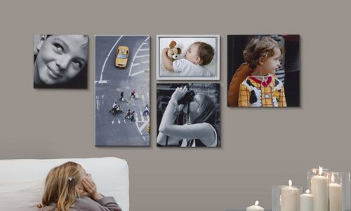 decorar paredes con fotos pegadas en mdf o impresas en