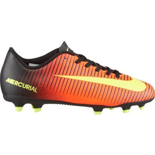 Nike Kids' Jr. Mercurial Vortex III FG Soccer Shoes (Total Crimson/Volt/Black/Pink Blast, Size 3) - Youth Soccer Shoes at Academy Sports