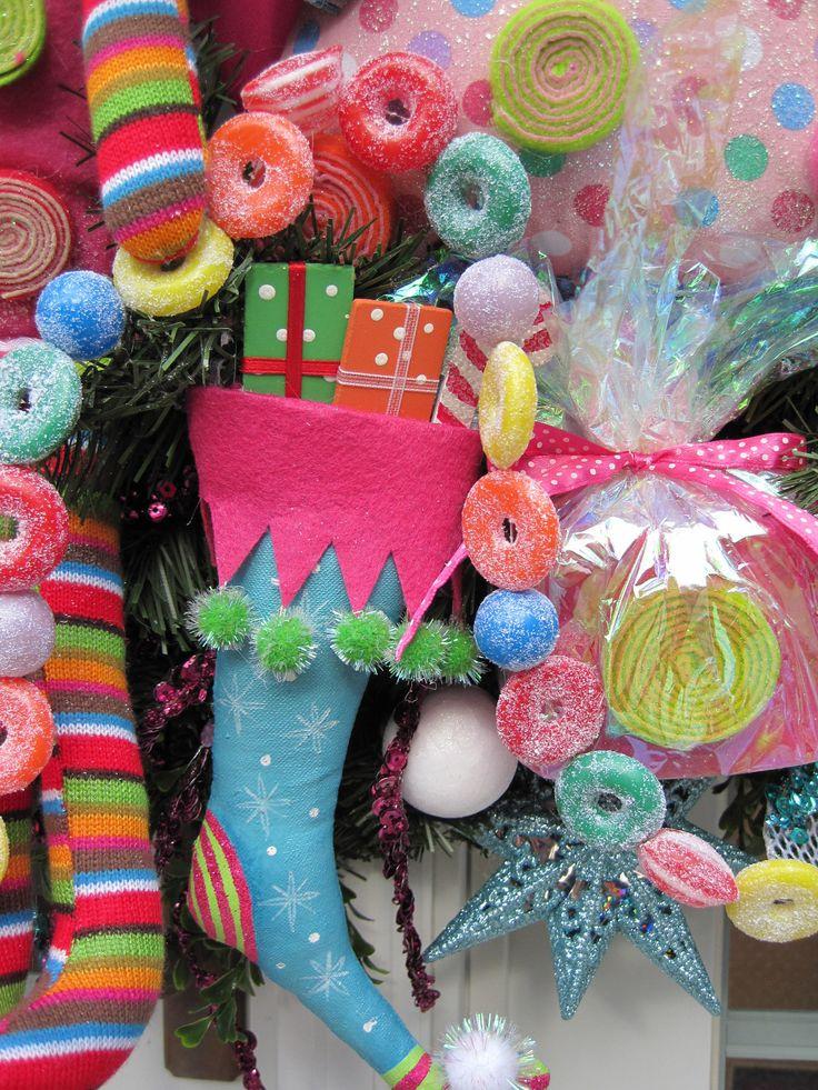 SUGAR PLUM DREAMS Gingerbread Christmas Large Holiday Wreath-Sweets Galore- Free Shipping. $295.00, via Etsy.