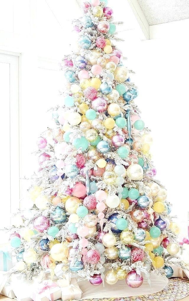 Pastel Christmas Ornaments.Pastel Christmas Ornaments Tree Pink Decorations Christmas