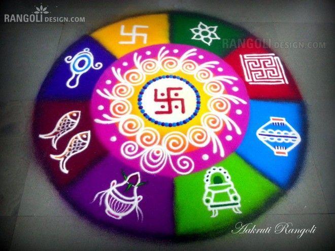 hindu rangoli design by aakruti -  34