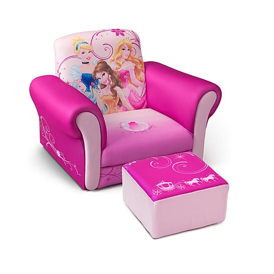 Disney Princess Armchair: Delta Children Disney Princess Upholstered Chair With
