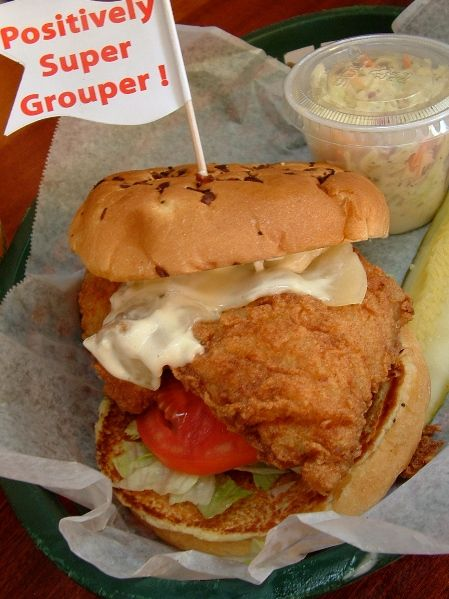 LOVE a GREAT Grouper Sandwich, Frenchy's Rockaway Grill on the Beach, Clearwater, Florida..