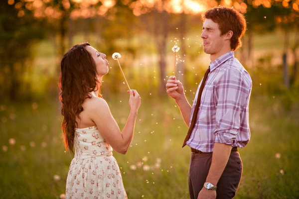 Engagement photo- cute idea, his face is hilarious!