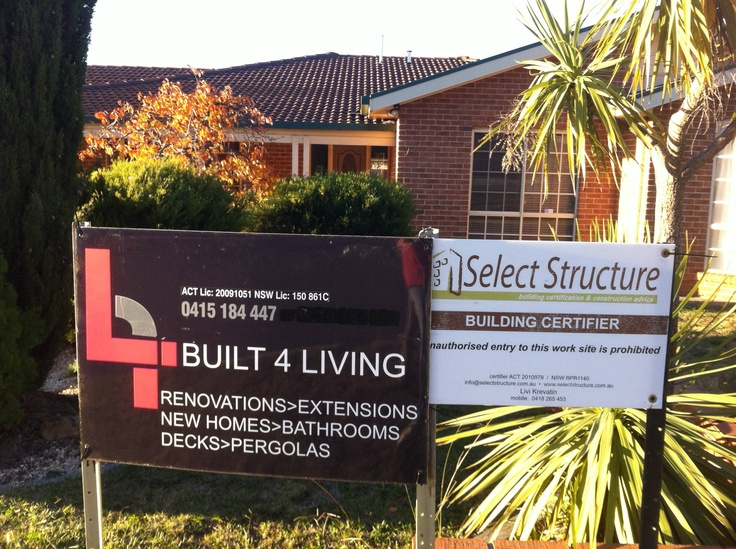 Built 4 Living sign up, signalling the start of our reno