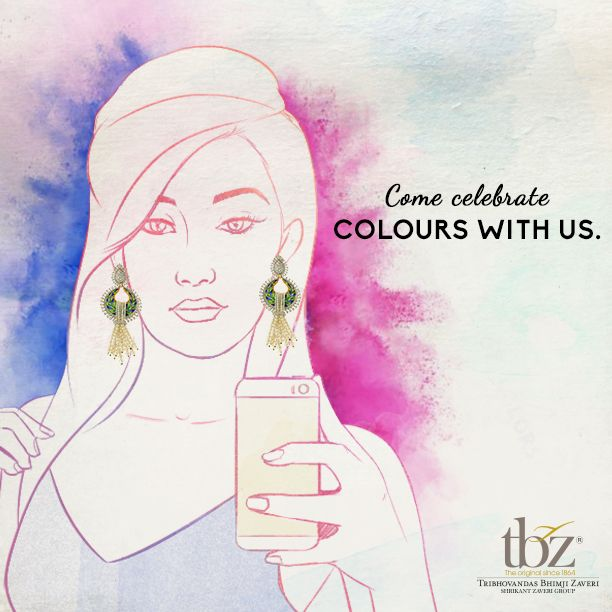 Send us a #Holi #Selfie through comments and we will share a piece that suits you. ‪#‎HappyHoli‬ #TBZ #Jewelry #JewelryDesign #Colors #India #FestivalOfColors #Gold #Diamond #Jewels