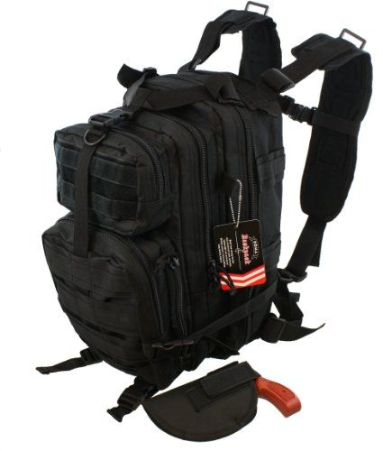 Concealed Carry Tactical Assault Backpack w/ Holster Every Day - CCW Concealment - http://emergencysurvival.supply/?product=concealed-carry-tactical-assault-backpack-w-holster-every-day-ccw-concealment  Visit http://emergencysurvival.supply to read more on Survival supplies