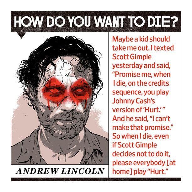 Andrew Lincoln, Norman Reedus, Danai Gurira, Lauren Cohan, Chad L. Coleman, and Michael Cudlitz envision proper endings