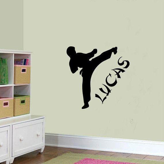 Personalised Custom Kids Karate Kick Wall Sticker Graphic boys Bedroom Transfer on Etsy, $22.27