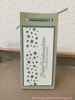 Stampin Up, Weihnachten, Christmas, Verpackung, Box, Geschenk, Stern, Star, Sternenkonfetti, Feiertagsgrüße