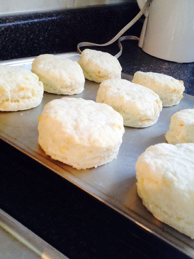 Smoked cheese biscuits.