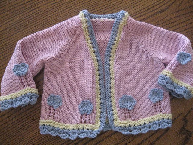 Ravelry: Project Gallery for Design D - Cardigan with Flowers pattern by Sirdar Spinning Ltd.