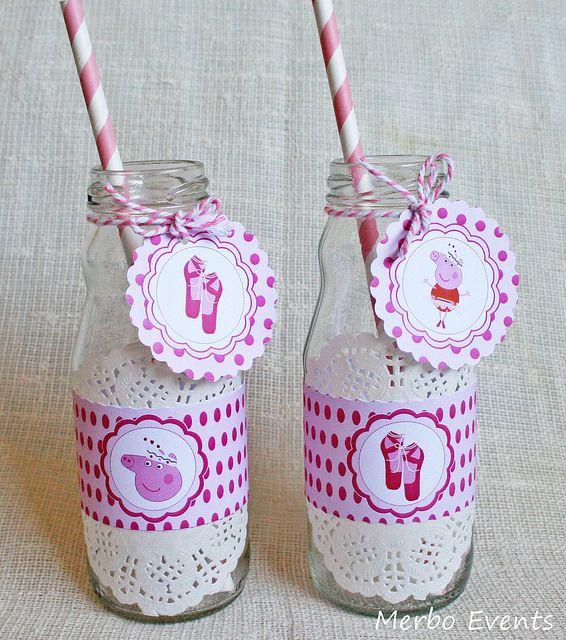Fajines botellines Kit Peppa Pig Bailarina Merbo Events by Merbo Events, via Flickr