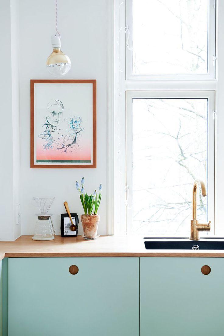 Cuisine ikea personnalis e r nover sa cuisine en vert pastel for Ikea cree sa cuisine