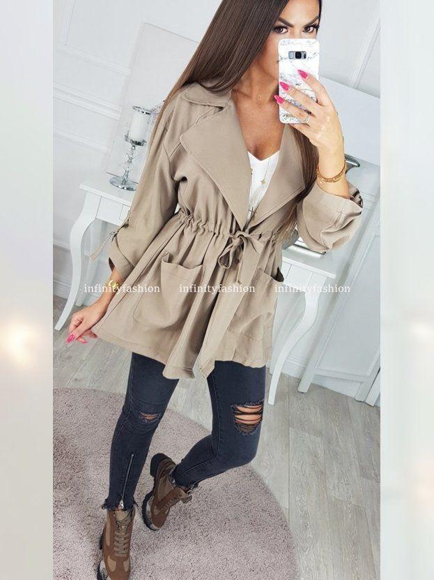 Koniecznie Zobacz Produkt Kurtka Ravel Bezowa W Cenie 89 90 Pln Na Infinityfashion Long Sleeve Blouse Fashion Peplum Top