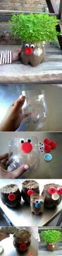Creative way to use plastic bottles