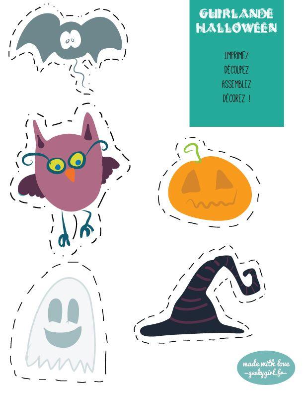 Les 25 meilleures id es de la cat gorie guirlande halloween sur pinterest guirlande de - Guirlande halloween a imprimer ...