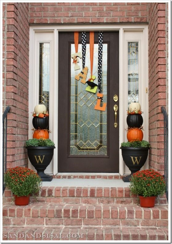 """pics of fall decorating for porches 