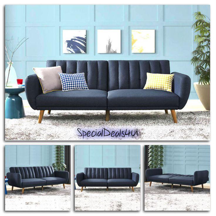 Futon Convertible Couch Sofa Bed Vintage Sleeper Living Room Furniture Lounger #SD4U #MidCenturyVintageModern