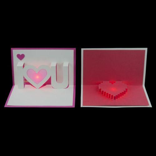 Light-Up Valentine Cards