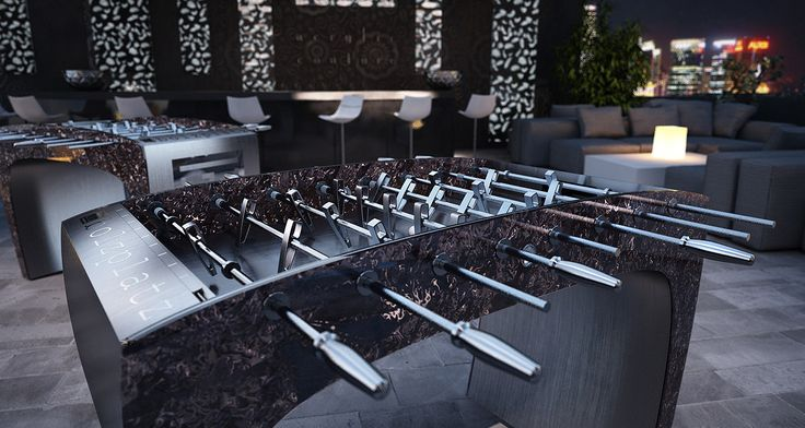 The creation of the foosball table was to bring together people and to enjoy friendly competition. #FoosballTable #Luxury #Sports #Soccer #Toronto #Vanvouver #thelowitz #thebolzplatz