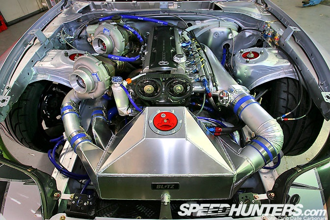 Almost stock 2JZ with huge Turbos? I'll take 2.