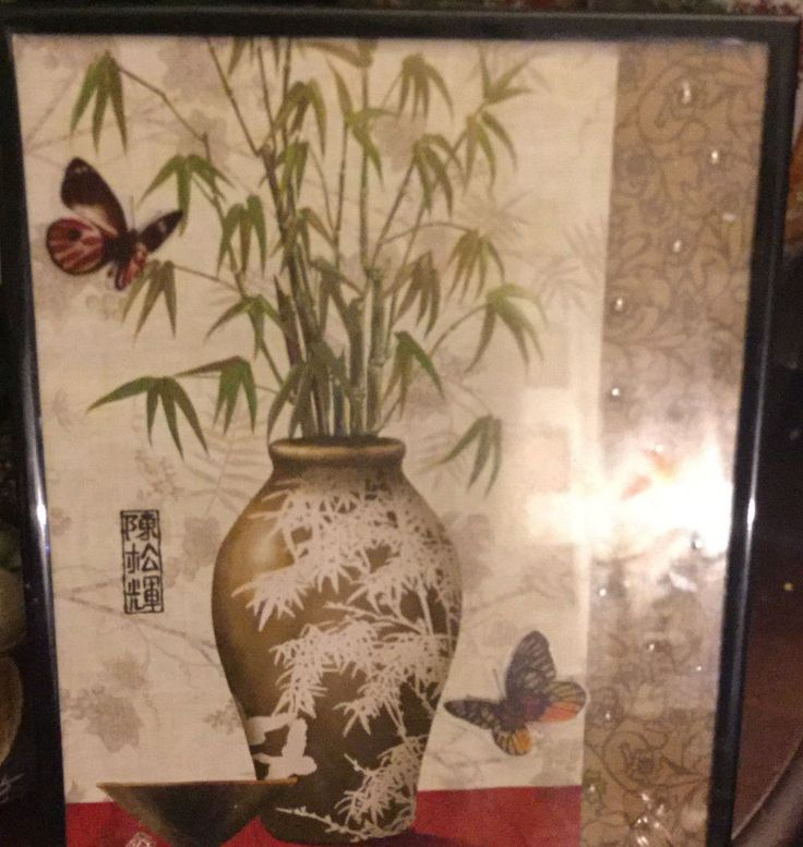Chinese Japanese Bamboo Plant Framed Poster Print Accent Asian wall Art Display #Theasianbutterflycollection #Asian