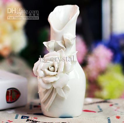Bianca Rosa Modello Economico Vasi Vaso Di Fiori La Decorazione Domestica Dec09 All'ingrosso Da