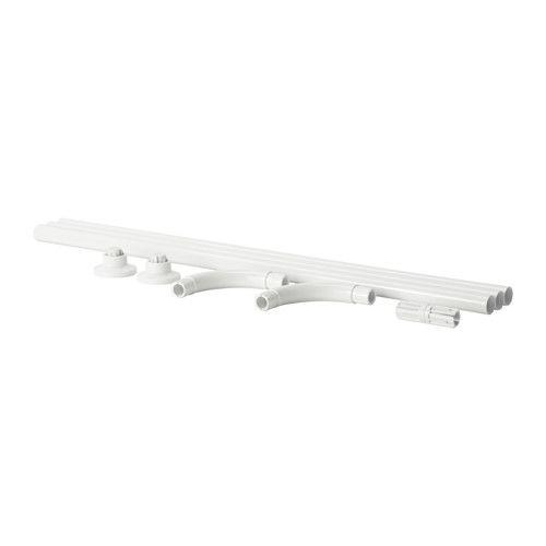 ВИКАРН Штанга для шторы в ванную IKEA Различные варианты установки: П-образный, Г-образный и угловой.