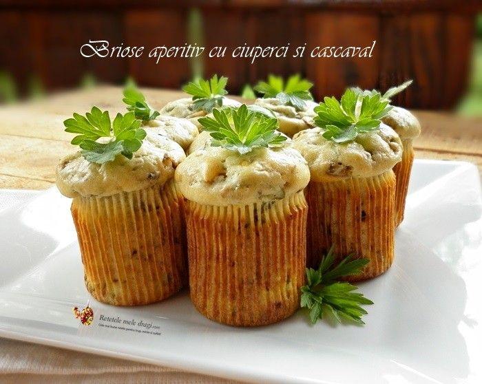 Briose aperitiv cu ciuperci si cascaval1