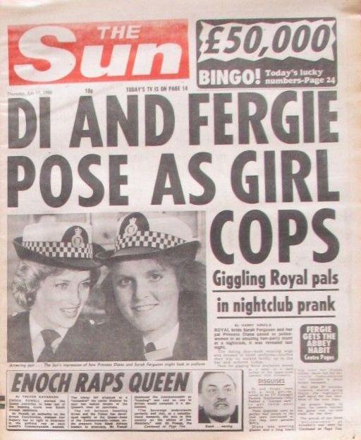 THE SUN 1986 - DI AND FERGIE