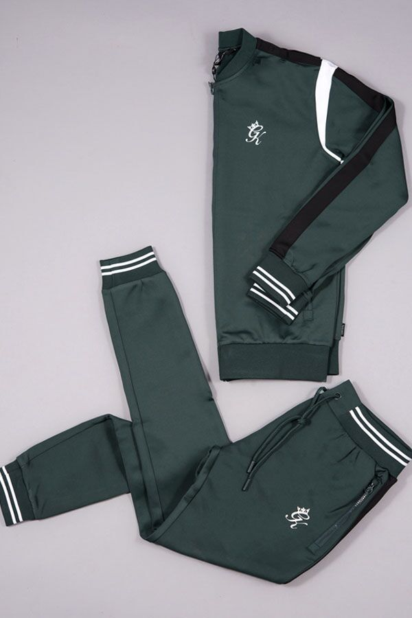 0693ac26 GK MAD DOG POLY TRACKSUIT FOREST GREEN/WHITE/BLACK £114.98 | Shop our  latest drops at thegymking.com