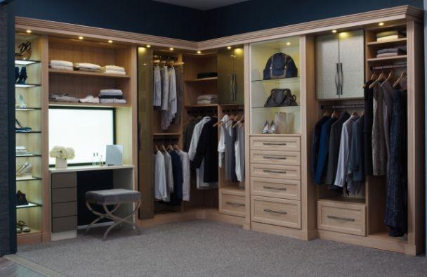 California Closets DFW Luxury Walk In Closet   Hers