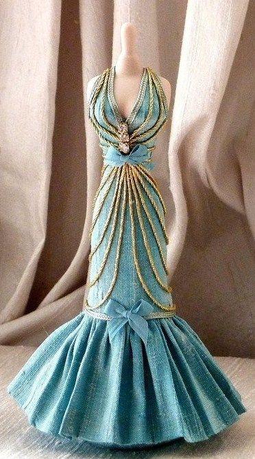 Already a miniature gown!